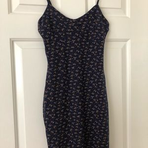 Nasty gal size 6 fitted flower mini dress